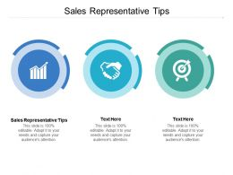 Sales Representative Tips Ppt Powerpoint Presentation File Designs Cpb