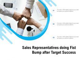 Sales Representatives Doing Fist Bump After Target Success