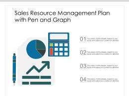 Sales Resource Management Plan With Pen And Graph
