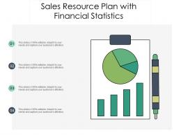 Sales Resource Plan With Financial Statistics