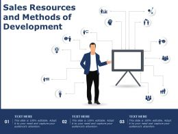 Sales Resources And Methods Of Development