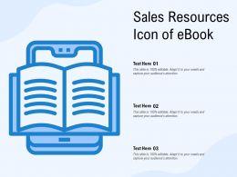 Sales Resources Icon Of eBook
