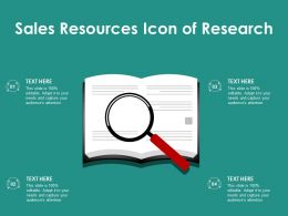 Sales Resources Icon Of Research