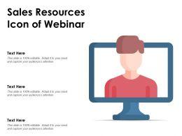 Sales Resources Icon Of Webinar