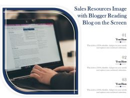 Sales Resources Image With Blogger Reading Blog On The Screen