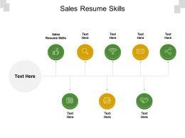 Sales Resume Skills Ppt Powerpoint Presentation Gallery Styles Cpb