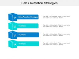 Sales Retention Strategies Ppt Powerpoint Presentation Inspiration Maker Cpb