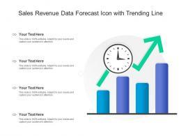 Sales Revenue Data Forecast Icon With Trending Line