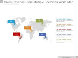 Sales Revenue From Multiple Locations World Map Powerpoint Ideas