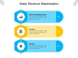 Sales Revenue Maximisation Ppt Powerpoint Presentation Pictures Graphics Design Cpb