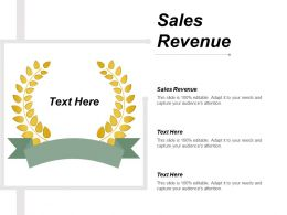 Sales Revenue Ppt Powerpoint Presentation Show Background Designs Cpb