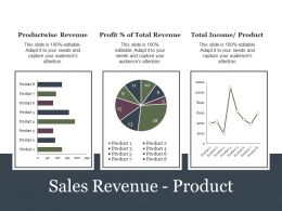 Sales Revenue Product Presentation Portfolio