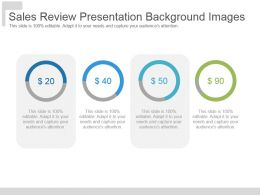 Sales Review Presentation Background Images