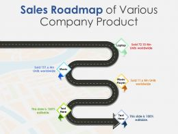 Sales Roadmap Of Various Company Product