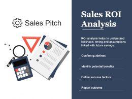 Sales Roi Analysis Presentation Background Images