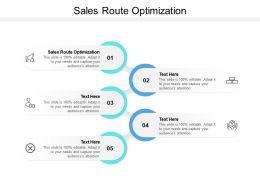 Sales Route Optimization Ppt Powerpoint Presentation Infographics Slides Cpb