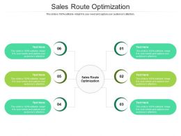 Sales Route Optimization Ppt Powerpoint Presentation Visual Aids Styles Cpb