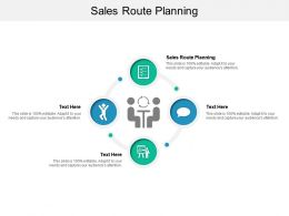 Sales Route Planning Ppt Powerpoint Presentation Show Format Ideas Cpb