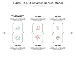 Sales SAAS Customer Service Model Ppt Powerpoint Presentation Visual Aids Files Cpb