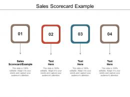 Sales Scorecard Example Ppt Powerpoint Presentation Outline Themes Cpb