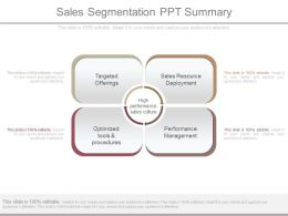Sales Segmentation Ppt Summary