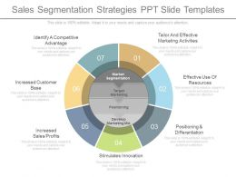 Sales Segmentation Strategies Ppt Slide Templates