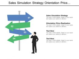 Sales Simulation Strategy Orientation Price Realization Significant Strategy
