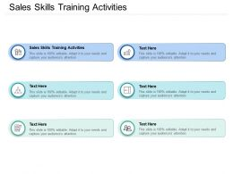 Sales Skills Training Activities Ppt Powerpoint Presentation File Aids Cpb