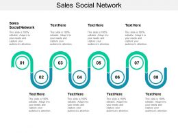 Sales Social Network Ppt Powerpoint Presentation Infographics Topics Cpb