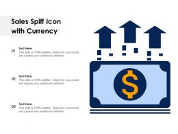 Sales Spiff Icon With Currency