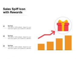 Sales Spiff Icon With Rewards