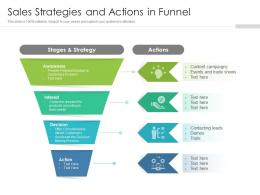 Sales Strategies And Actions In Funnel