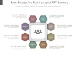 Sales Strategy And Planning Layout Ppt Summary