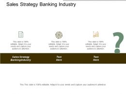 Sales Strategy Banking Industry Ppt Powerpoint Presentation Inspiration Cpb