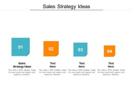 Sales Strategy Ideas Ppt Powerpoint Presentation Pictures Icon Cpb