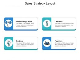 Sales Strategy Layout Ppt Powerpoint Presentation Gallery Template