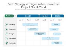 Sales Strategy Of Organization Shown Via Project Gantt Chart