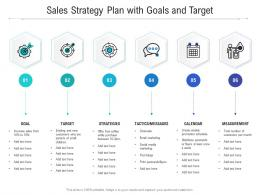 Sales Strategy Plan With Goals And Target