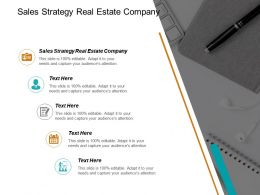 Sales Strategy Real Estate Company Ppt Powerpoint Presentation Infographic Template Example File Cpb