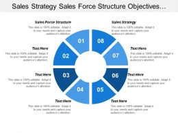 Sales Strategy Sales Force Structure Objectives Strategies Actions