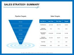 Sales Strategy Summary Team Size Ppt Powerpoint Presentation Diagram Lists