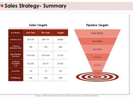 Sales Strategy Summary Total Revenue Ppt Powerpoint Presentation Pictures Graphics