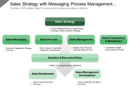 Sales Strategy With Messaging Process Management Adoption Enablement