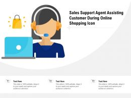 Sales Support Agent Assisting Customer During Online Shopping Icon