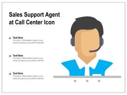 Sales Support Agent At Call Center Icon