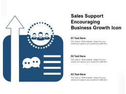 Sales Support Encouraging Business Growth Icon