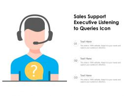 Sales Support Executive Listening To Queries Icon