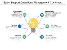 Sales Support Operations Management Customer Data Management