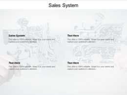 Sales System Ppt Powerpoint Presentation Outline Images Cpb