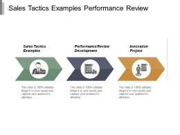Sales Tactics Examples Performance Review Development Innovation Project Cpb
